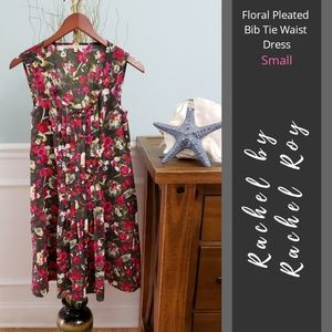 Rachel by Rachel Roy | Floral Pleated Bib Dress